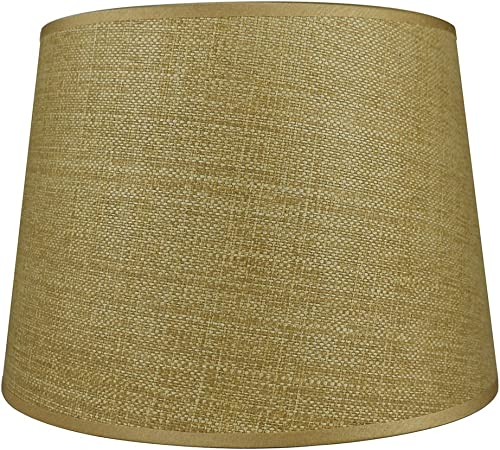 Urbanest French Drum Lampshade, Woven Grass, 10-inch by 12-inch by 8.5-inch, Straw, Spider Washer Fitter