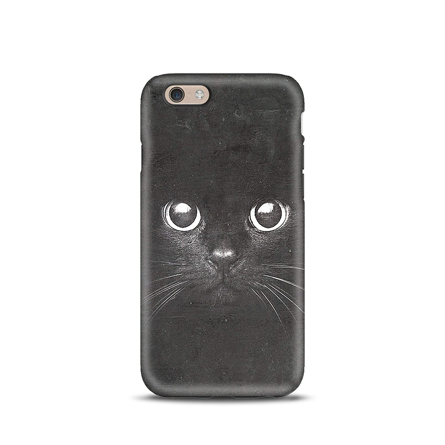 Black Cat cover case TPU Tough for iPhone 5, 5s, 6, 6s, 7, 7 plus, 8, 8 plus, X, XS, for Galaxy S6, S7, S8