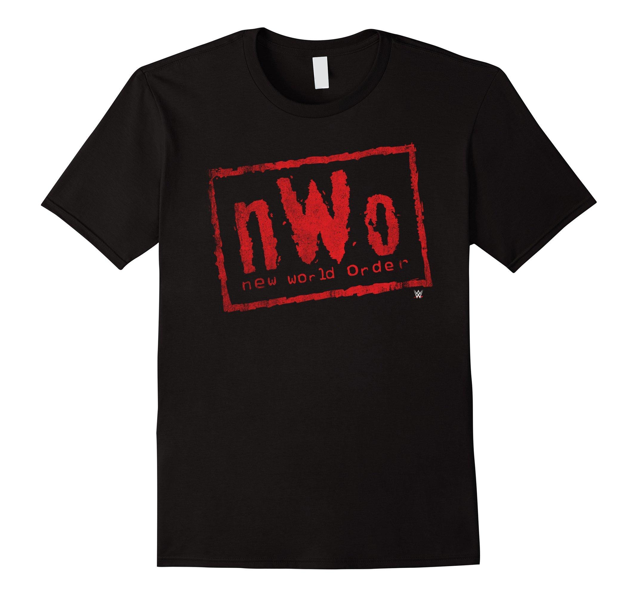 Mens nWo New World Order WWE Wrestling Logo Graphic T-Shirt XL Black by WWE