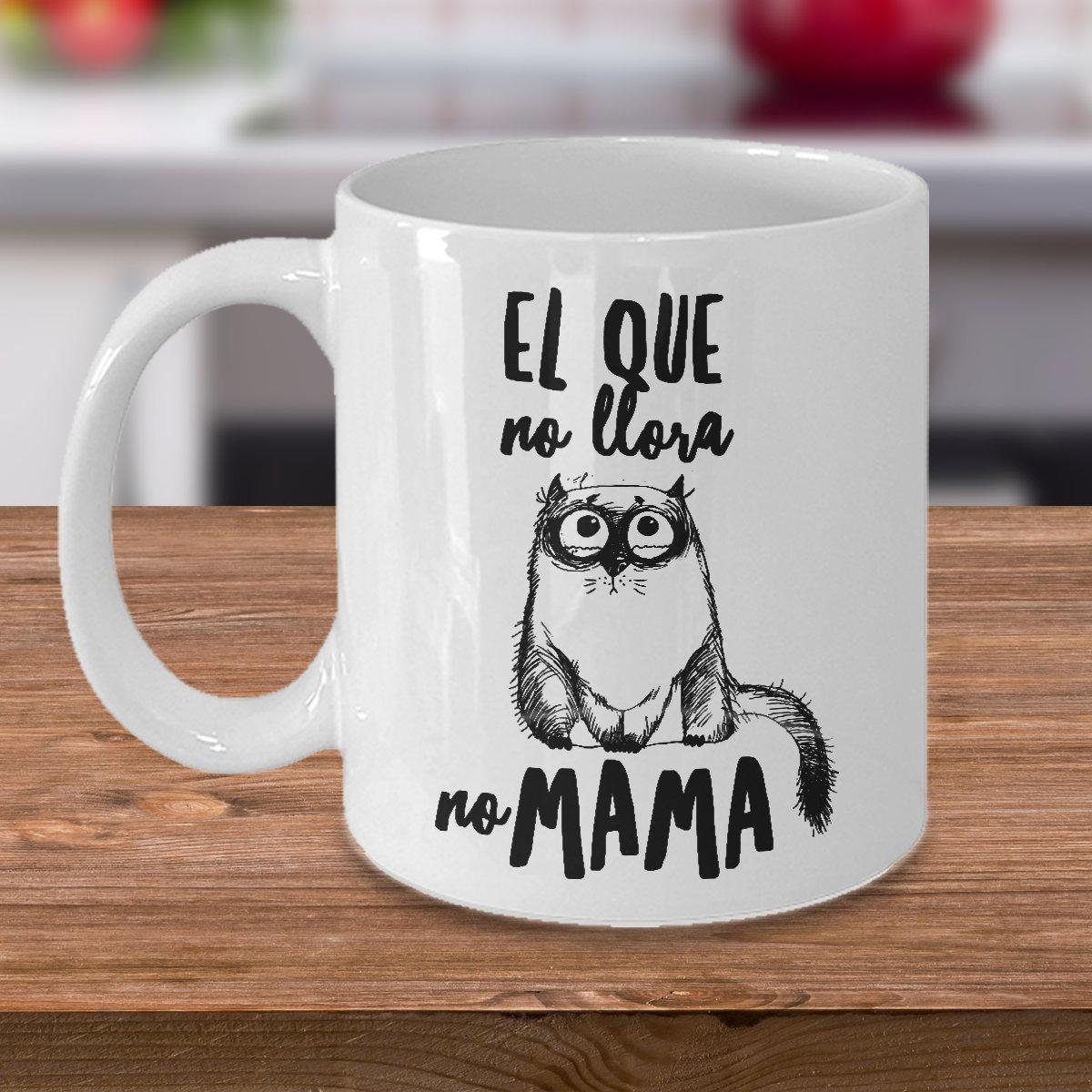 Amazon.com: Taza de Cafe Chistosa de Gato ; Mug in Spanish ; Humor Latino Gift: Kitchen & Dining