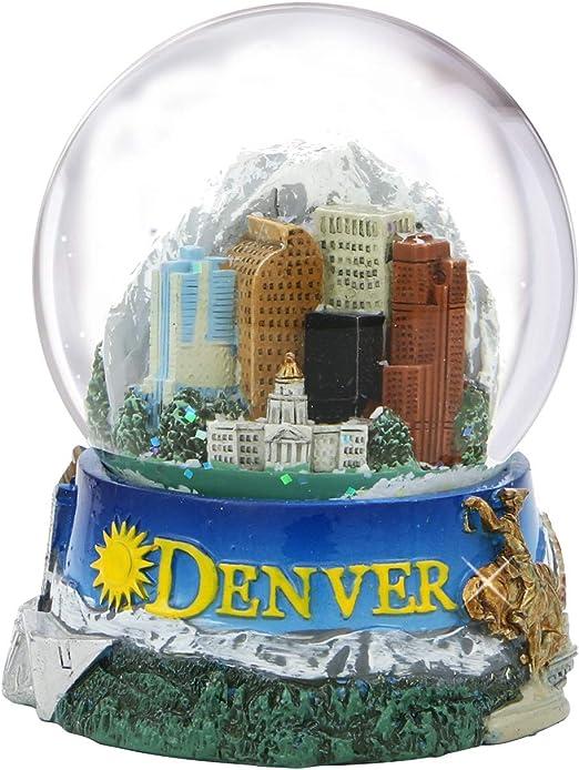 DENVER COLORADO IN COLOR SNOWDOME SNOW GLOBE-NEW