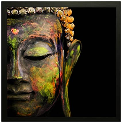 Friends Office Automation Lord Buddha Framed Wall Art Paintings   Frame  Size (12 Inch X