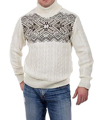 Exklusiver Herren Strickpullover aus Schurwolle von Natural Style