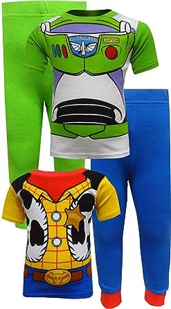 a3a05b22c Amazon.com: Disney Toy Story Boys' 4-Piece Cotton Pajama Set: Clothing