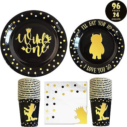 Amazon.com: Wild One decoraciones de cumpleaños I 96 piezas ...