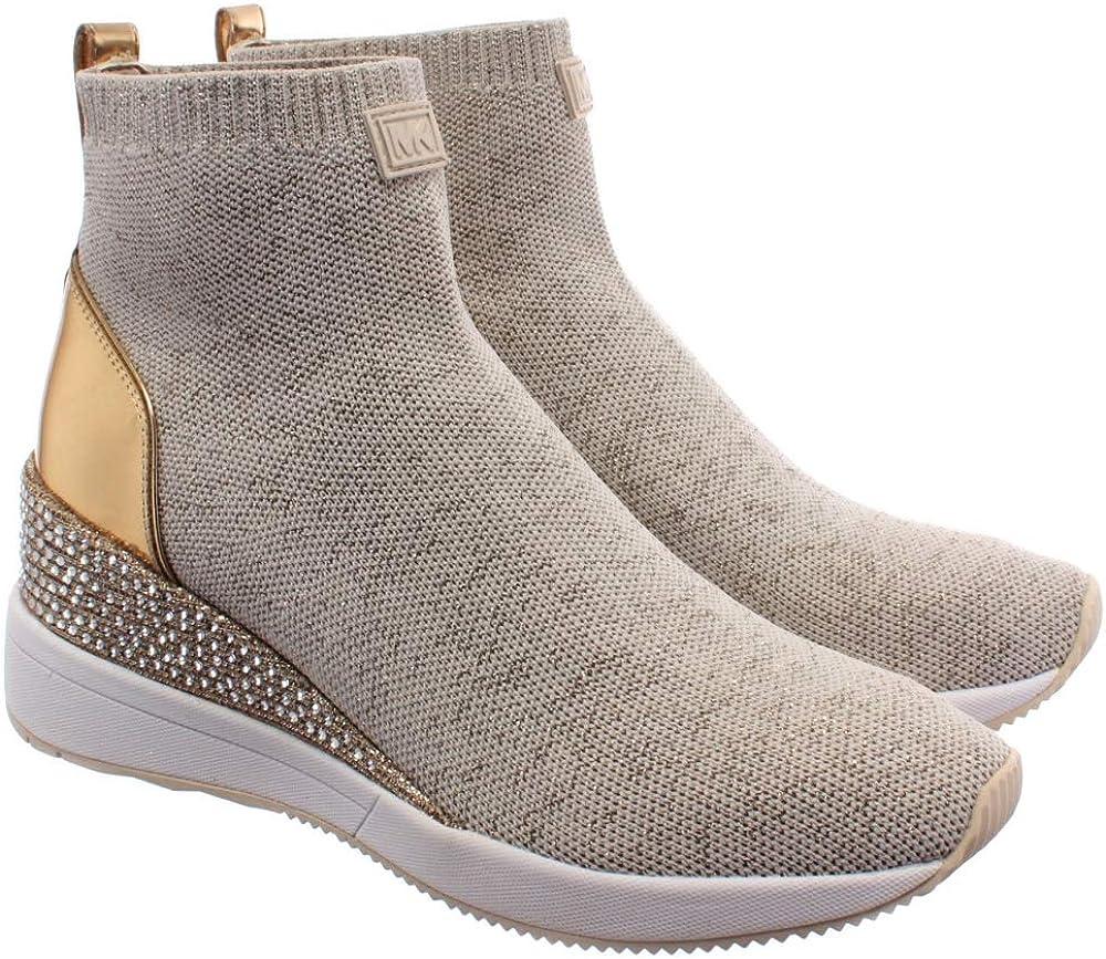 Sneakers Mujeres MICHAEL KORS 43R0SKFS2D Skyler Gold Tejido Beige