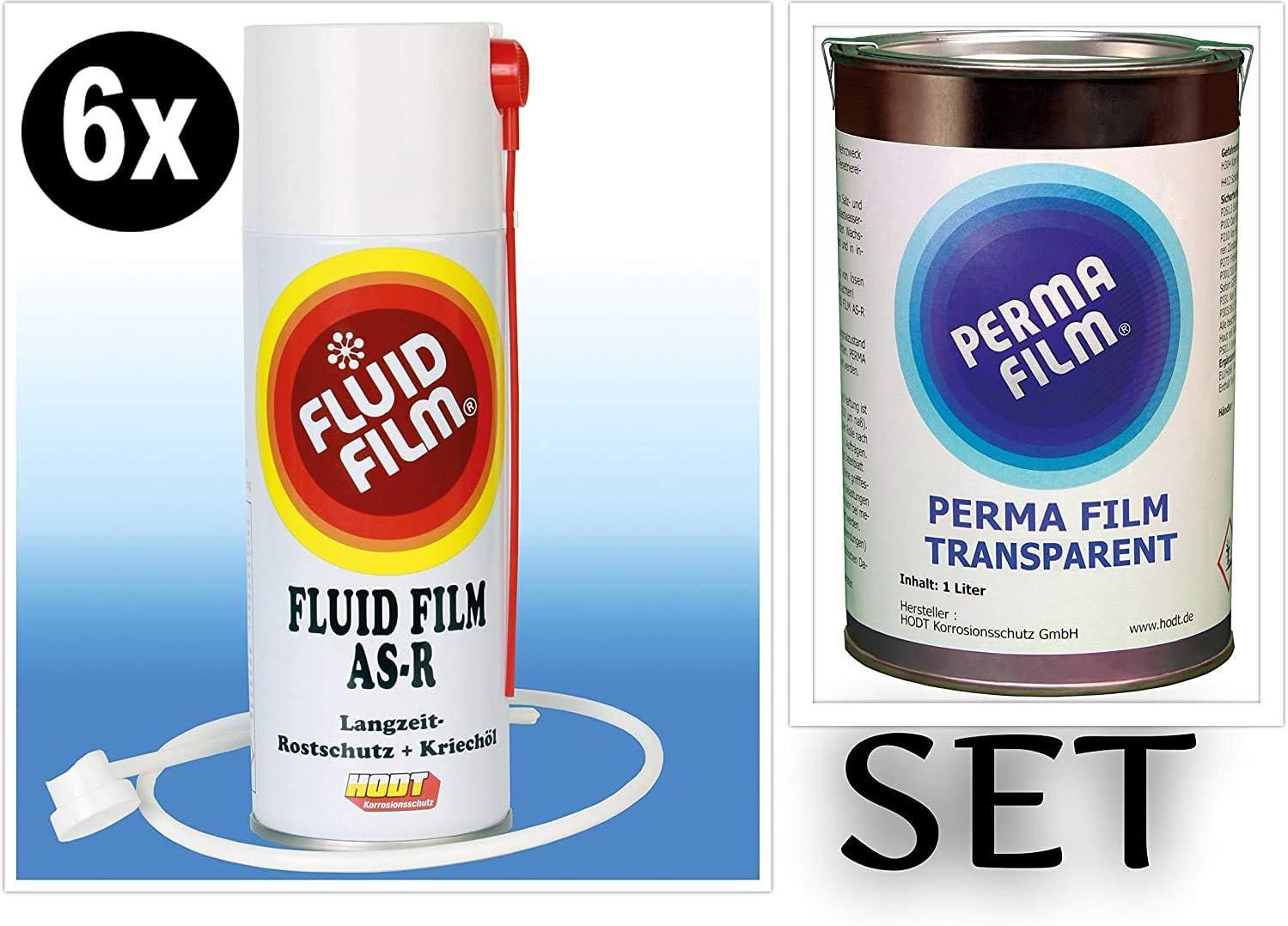 6x Fluid Film As R Rostschutz Korrosionsschutz Hohlraumversiegelung Rostschutzmittel Korrissionsschutzmittel Hohlraumkonservierung 400 Ml Sonde Perma Film Transparent 1 Liter Baumarkt