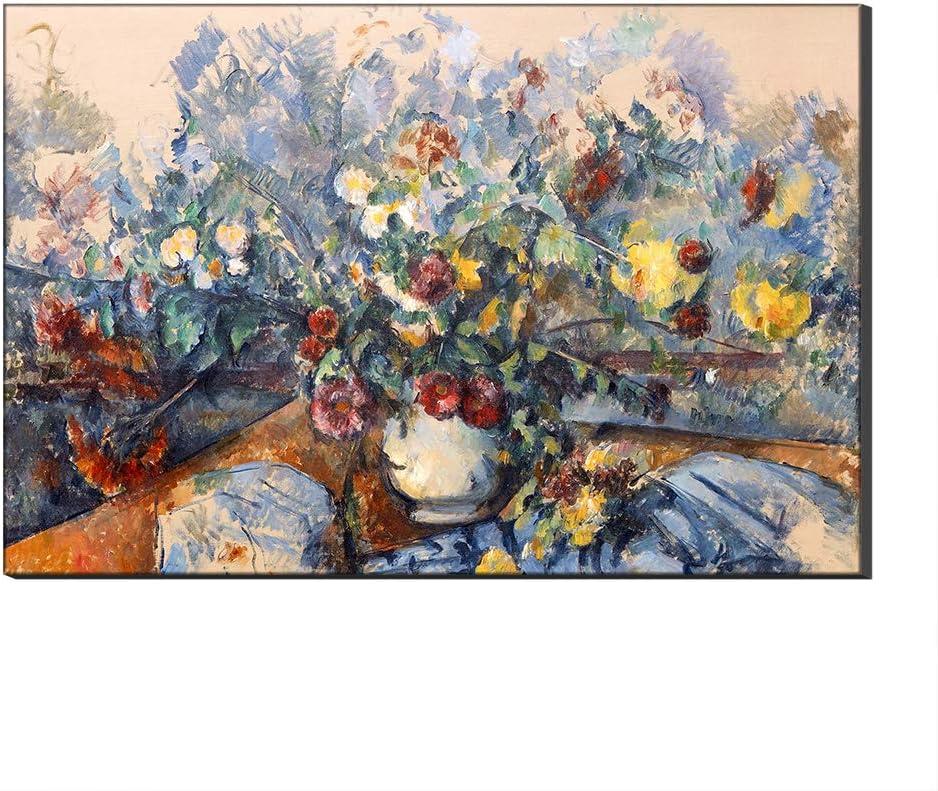 Lienzo Cuadros Famosos Jarrón por Paul Cézanne Arte De La Pared Reproducción De Arte Fino Impreso En Lienzo De Arte para Decoraciones para El Hogar (Sin Marco,40_x_60_cm)