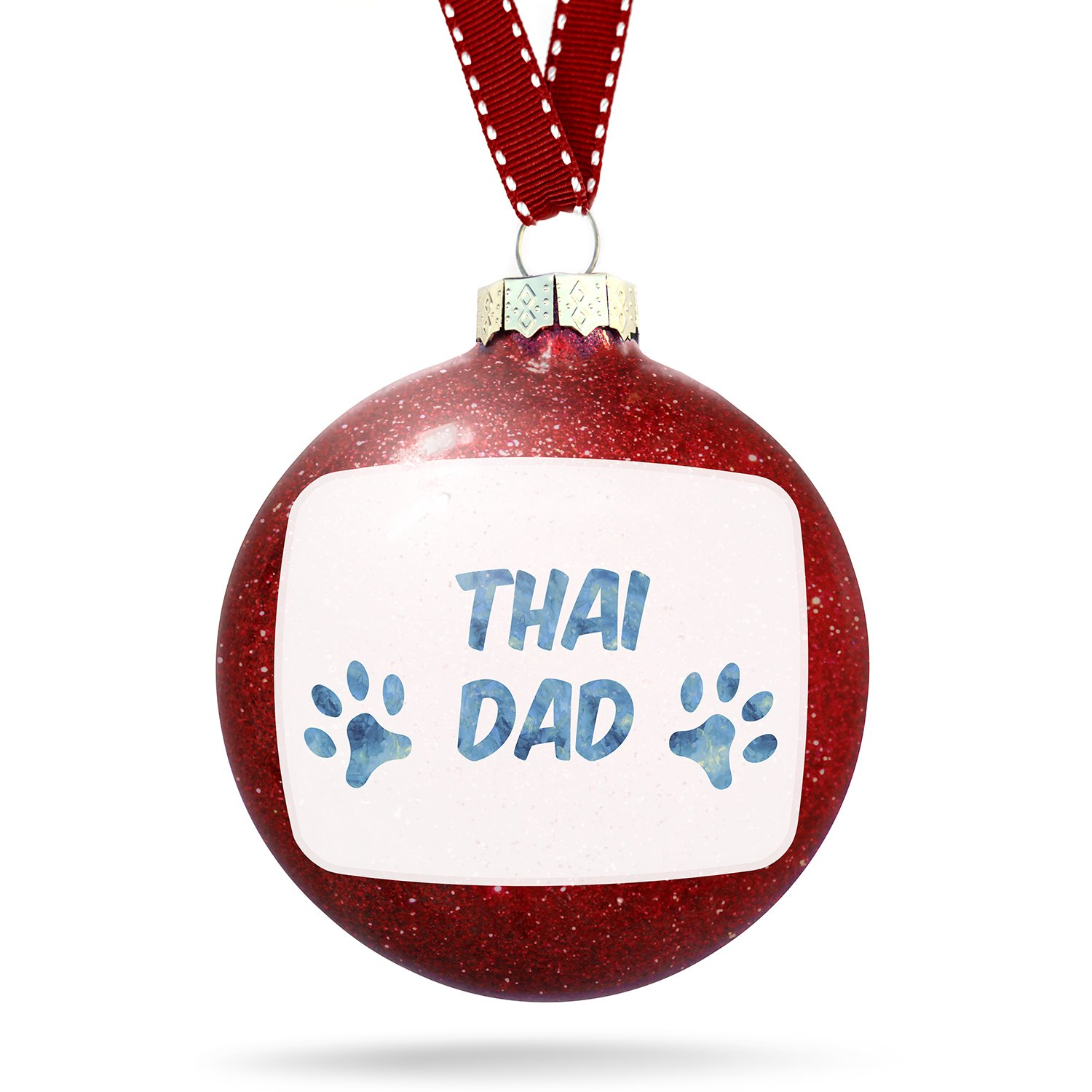 Christmas Decoration Dog & Cat Dad Thai Ornament by NEONBLOND