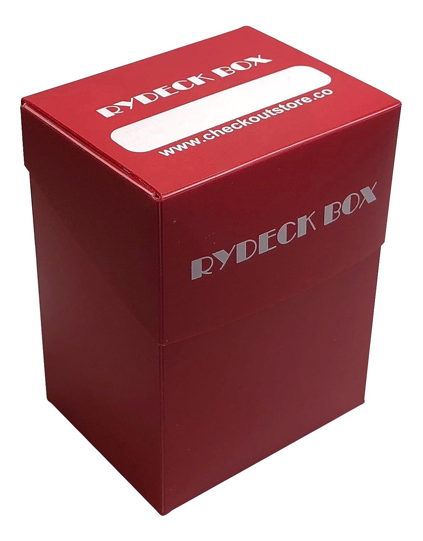 1 rydeckボックス120 Tradingカードホルダー – レッド B07F2M4QRD
