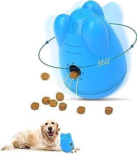 Treat Dispensing Dog Toys,Wobble Dog Food Dispenser,Dog Puzzle Toys(Slow Feeder) for Large Medium Dogs - Iq Dog Treat Ball,Interactive Dog Toy