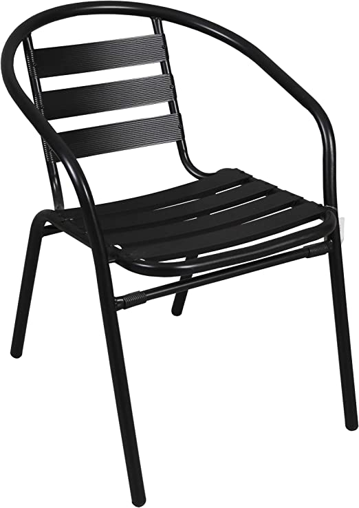 thesecrethome.es Silla Aluminio Negra. Ideal para TU Jardin O TERRAZA. (73 x 57 x 54 cm): Amazon.es: Jardín
