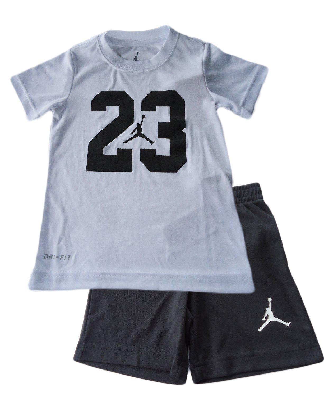 Jordan Toddler Boys 2 Piece Jumpan Pants & Top Set (5, White)