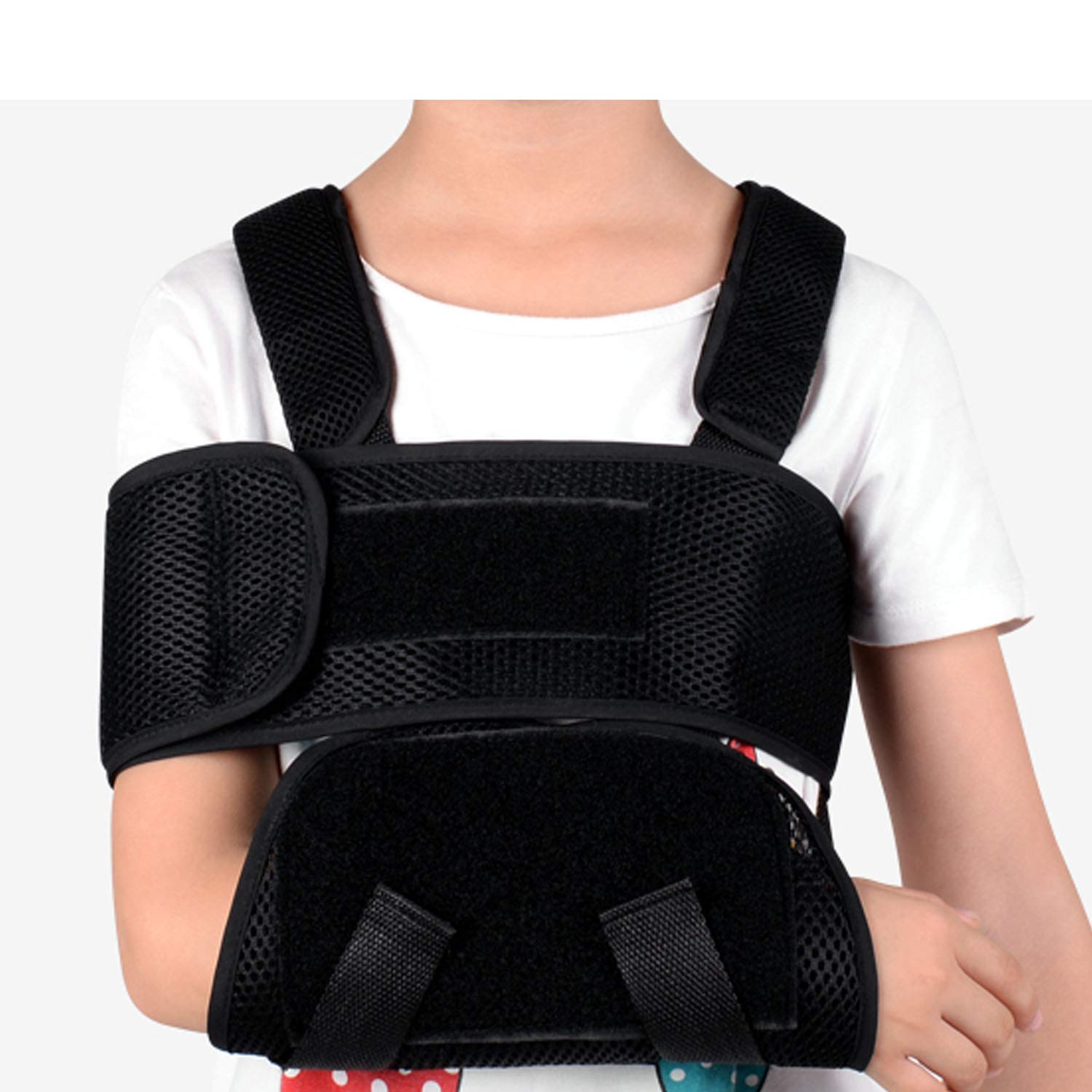 iiHome Medical Arm Sling,  Arm Immobilizer Sling, Maximum Comfort, Best Fully Adjustable Rotator Cuff and Elbow Support for Broken&Fractured Arm, Includes Immobilizer Band for Quick Recovery (Child) by iiHOME