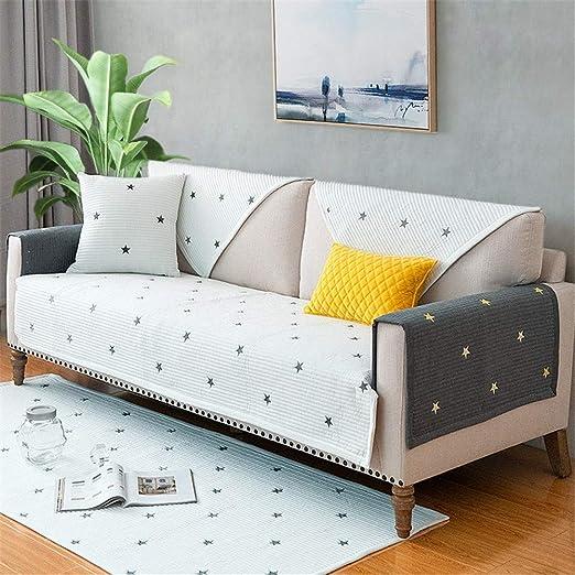 YJRH Simple Tela Funda para sofá 3 plazas Algodón Antideslizante Funda de sofá rinconera Sala de Estar Propósito General Protector para sofás 1pieza: Amazon.es: Hogar
