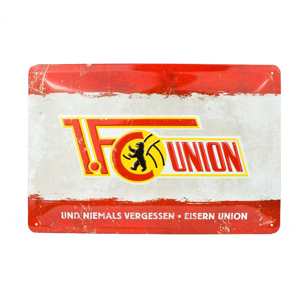 FC Union Berlin Blechschild Logo in 30 cm x 20 cm 1