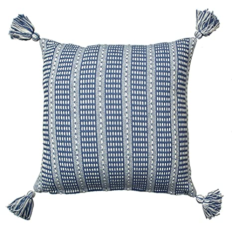 "Amazon.com: lr07310 Azul 18"" x 18"" almohada: Home ..."