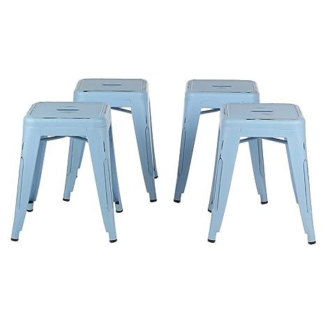 Terrific Amazon Com Tolix Style Metal Industrial 18 Dining Stool Inzonedesignstudio Interior Chair Design Inzonedesignstudiocom