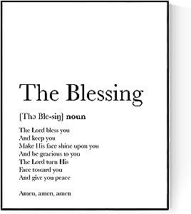 The Blessing Definition   Elevation Worship   Kari Jobe   Christian Music Art Print (8x10)