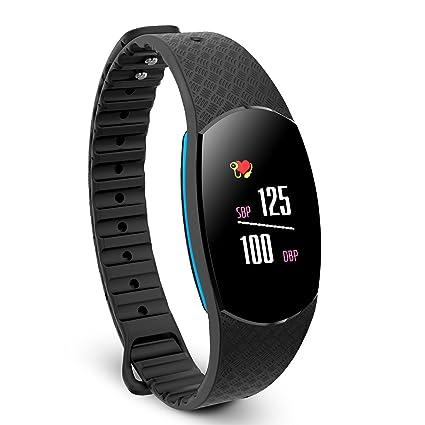 Joyzy Color Screen Activity Tracker Reloj Fit con monitor de presión arterial de frecuencia cardíaca,