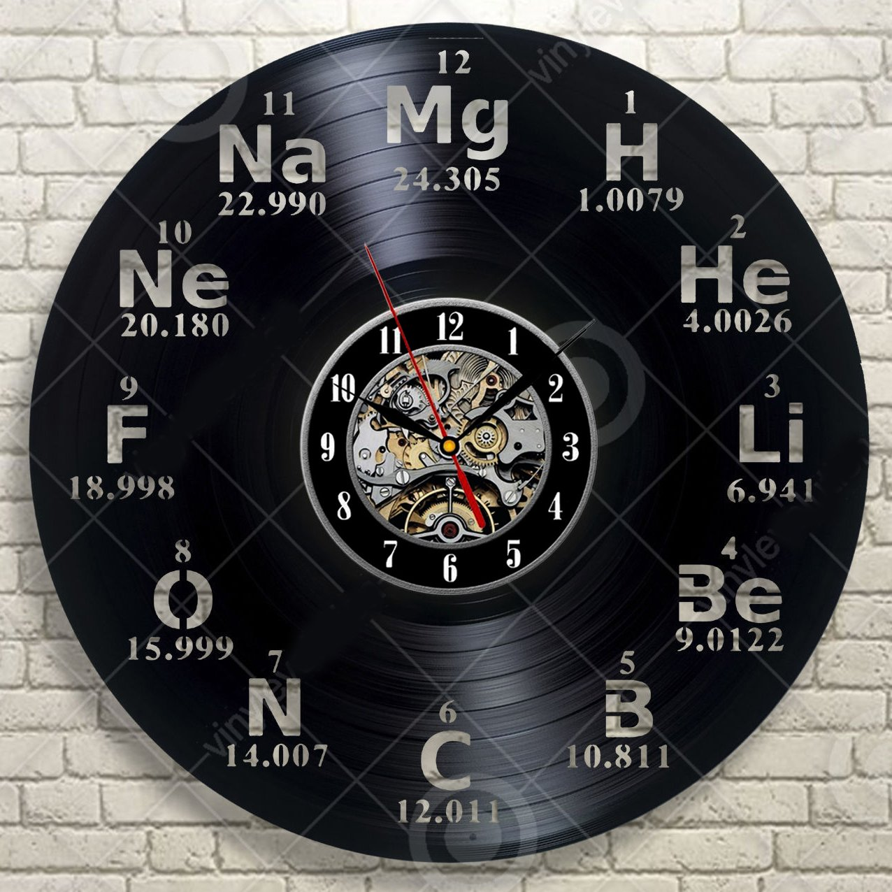 Amazon chemical element periodic table vinyl wall clock study amazon chemical element periodic table vinyl wall clock study chemistry school collehe decorative vinyl record wall clock this clock is a unique gift gamestrikefo Gallery