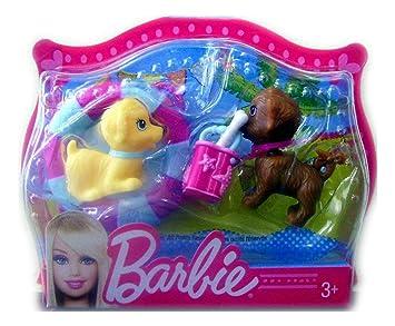 Amazon.es: Mattel - Barbie mini pets - perritos con flotador y cubo: Juguetes y juegos