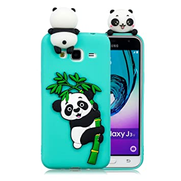 Leton Funda para Samsung Grand Prime G530 Silicona Panda 3D Suave Flexible TPU Carcasa Galaxy Grand Prime Ultra Delgado Gel Antigolpes Goma Cubierta ...