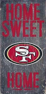 Hall of Fame Memorabilia San Francisco 49ers Wood Sign - Home Sweet Home 6''x12''