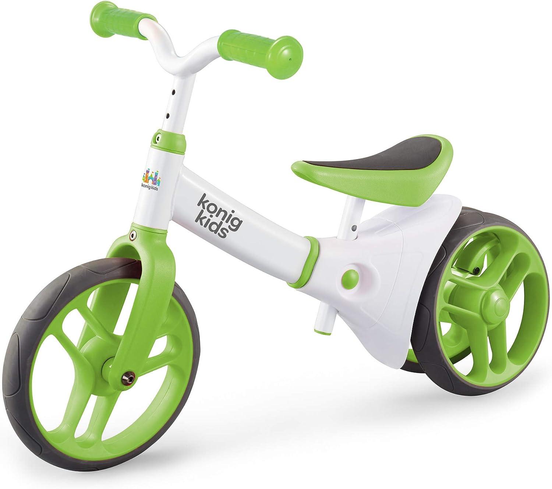MUXIN Bicicleta Sin Pedales para Niños, Bicicleta De Equilibrio con Cuatro Ruedas para Niños De 1 A 3 Años, Bicicleta Bebe 1 Año Bicicleta Equilibrio 1 Año Bicicleta Infantil Sin Pedales,Verde