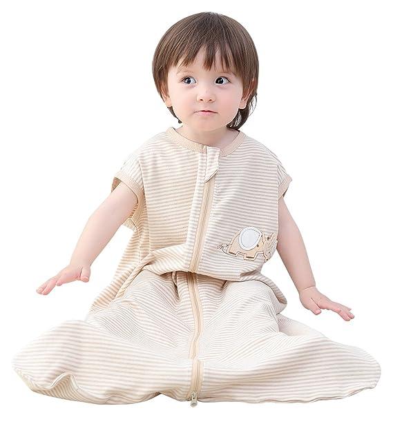 Happy cherry Saco de Dormir de Algodón para Bebés Cómodo con Estampado Animal Infantil sin Mangas