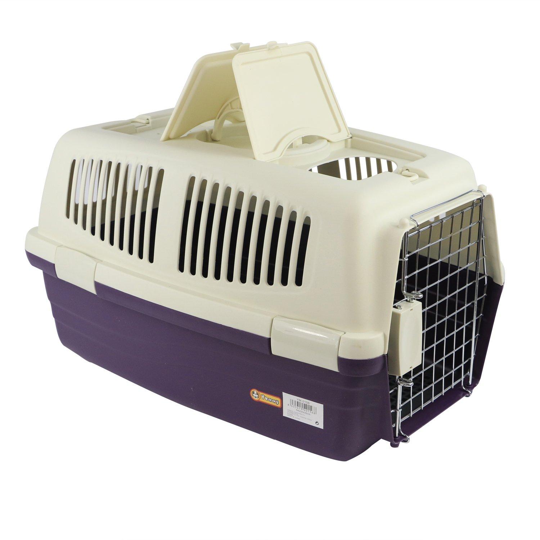 YOMMY® Transportín Mascotas para Perros Gatos Plastico 54 X 32 X 32 cm YM-0156(Violeta): Amazon.es: Deportes y aire libre