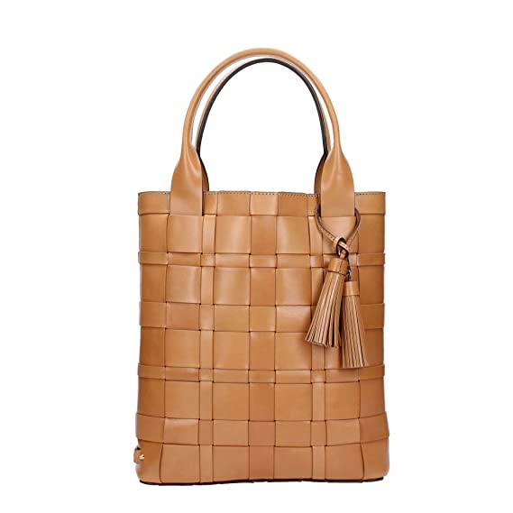 Michael Kors Vivian Large Woven North South Leather Tote in Peanut   Amazon.co.uk  Clothing c49919906970f