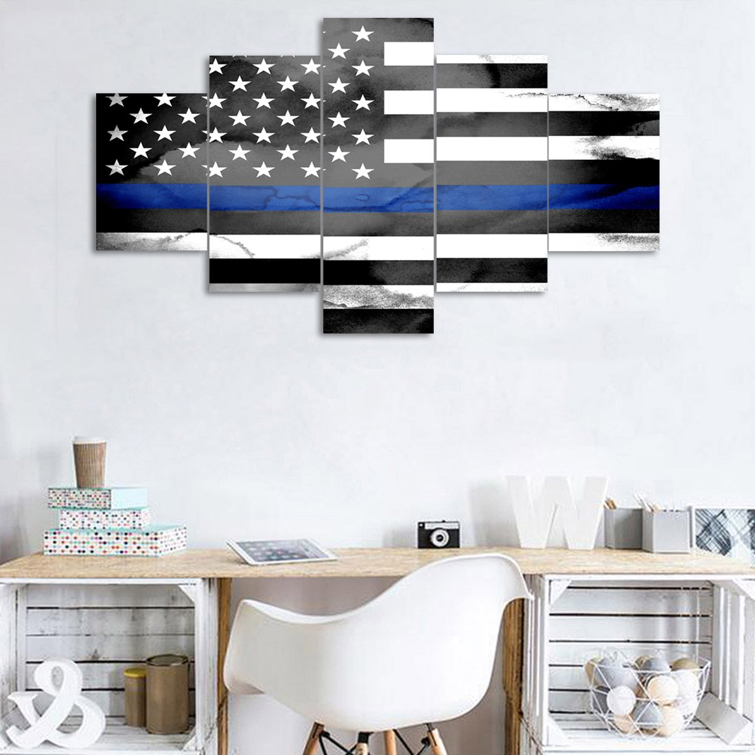 Paintings Yatsen Bridge 5 Panels Modern American Flag Art With Eagle Home Decor Rustic