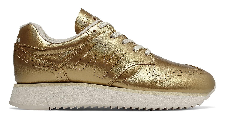 New Balance Women's 520v1 Sneaker B079M6C3MT 11.5 B(M) US|Metallic Gold/Moonbeam