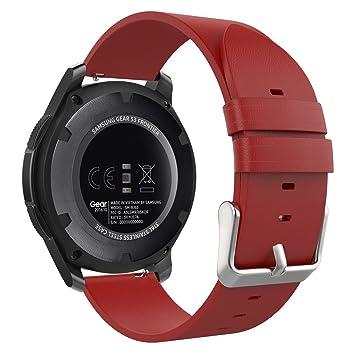 MoKo Gear S3 SmartWatch Correa - Premium/Reemplazo Suave Cuero Auténtico Imitado Strap Band para Samsung Gear S3 Frontier / S3 Classic/Moto 360 2nd ...