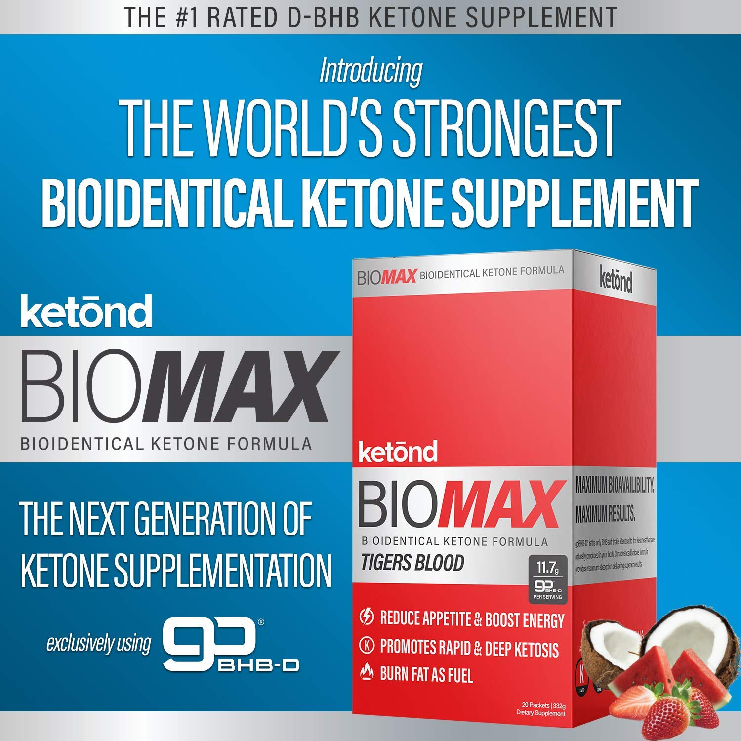 Ketōnd BioMAX - 20 'on the go packs' 11.7g of goBHB-D - the first of its kind all-natural ketone that is BIOLOGICALLY IDENTICAL to the ketones your body makes! (Aloha Punch) by Ketond Nutrition (Image #3)