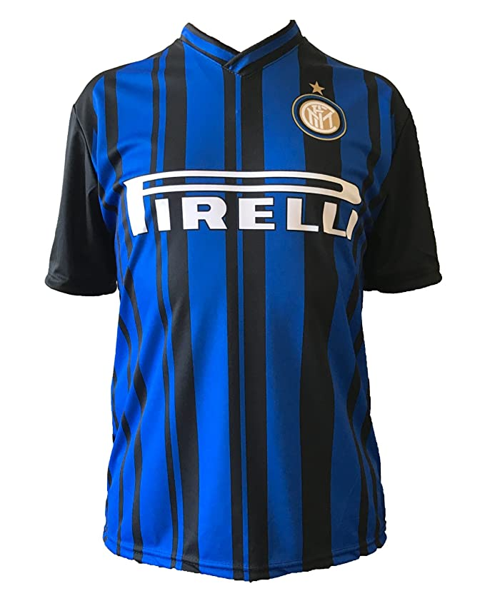 Camiseta de fútbol Inter Icardi, réplica autorizada de la temporada 2017-2018, para niño (tallas 2, 4, 6, 8, 10 y 12) y adulto (S, M, L y XL) (10 años): ...