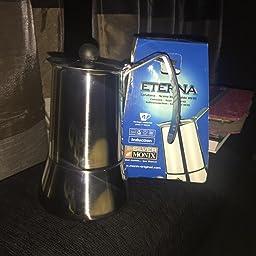 Monix Eterna - Cafetera Italiana con Capacidad 4 Tazas, Fabricada ...