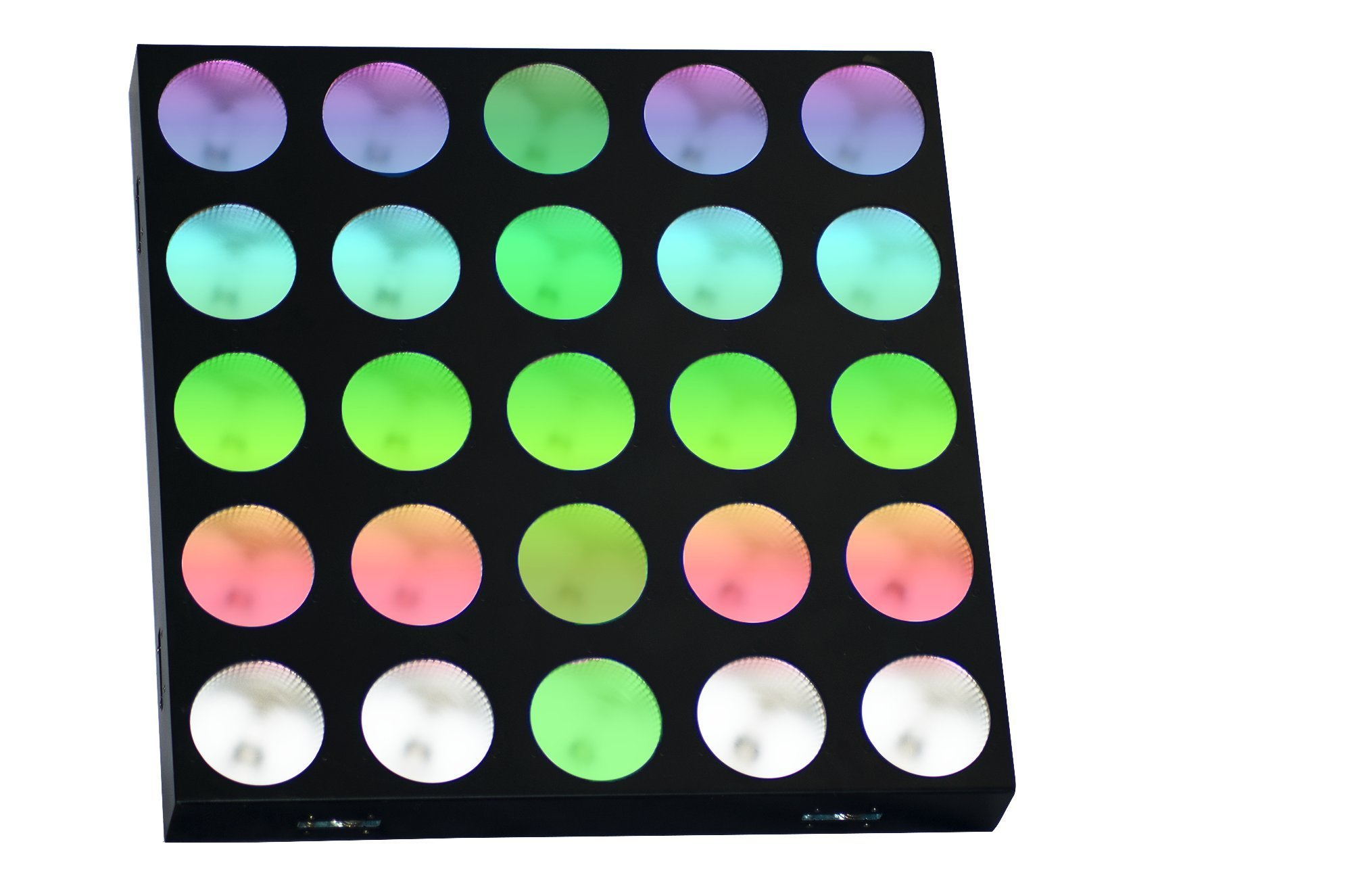 Rasha Professional RPAS Matrix Gar LED Wash Panel Combined of 25 Small Multicolored Lights with Built-In Dynamic and Static Patterns+ A Year Warranty, Black