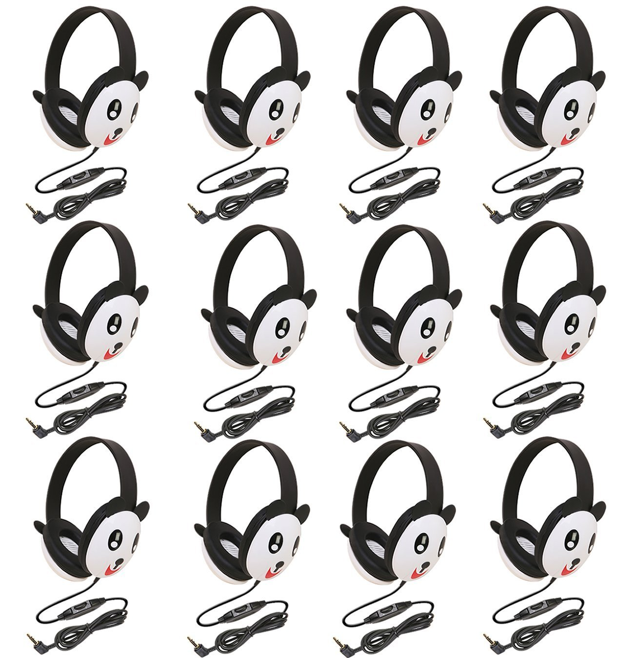 Auriculares Califone 2810-PA Listening First Stereo Panda Motif - Pack of 12