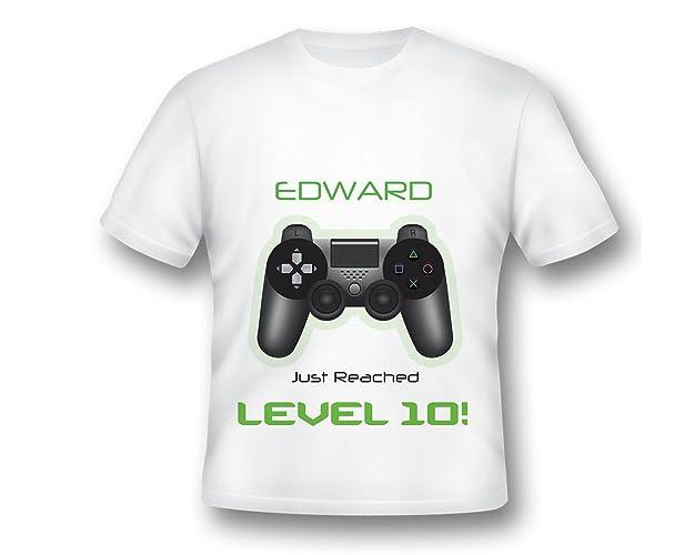 c1c2436aa5c3c Custom Personalized Gaming Shirt, Game zone t-shirt, Video Game Birthday  shirt, Video Game Tee Shirt, Video game party, White Gaming Tshirt, Game  Zone ...