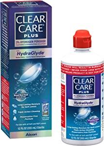 Clear Care Plus Cleaning and Disinfecting Solution with Lens Case, 12-Ounces