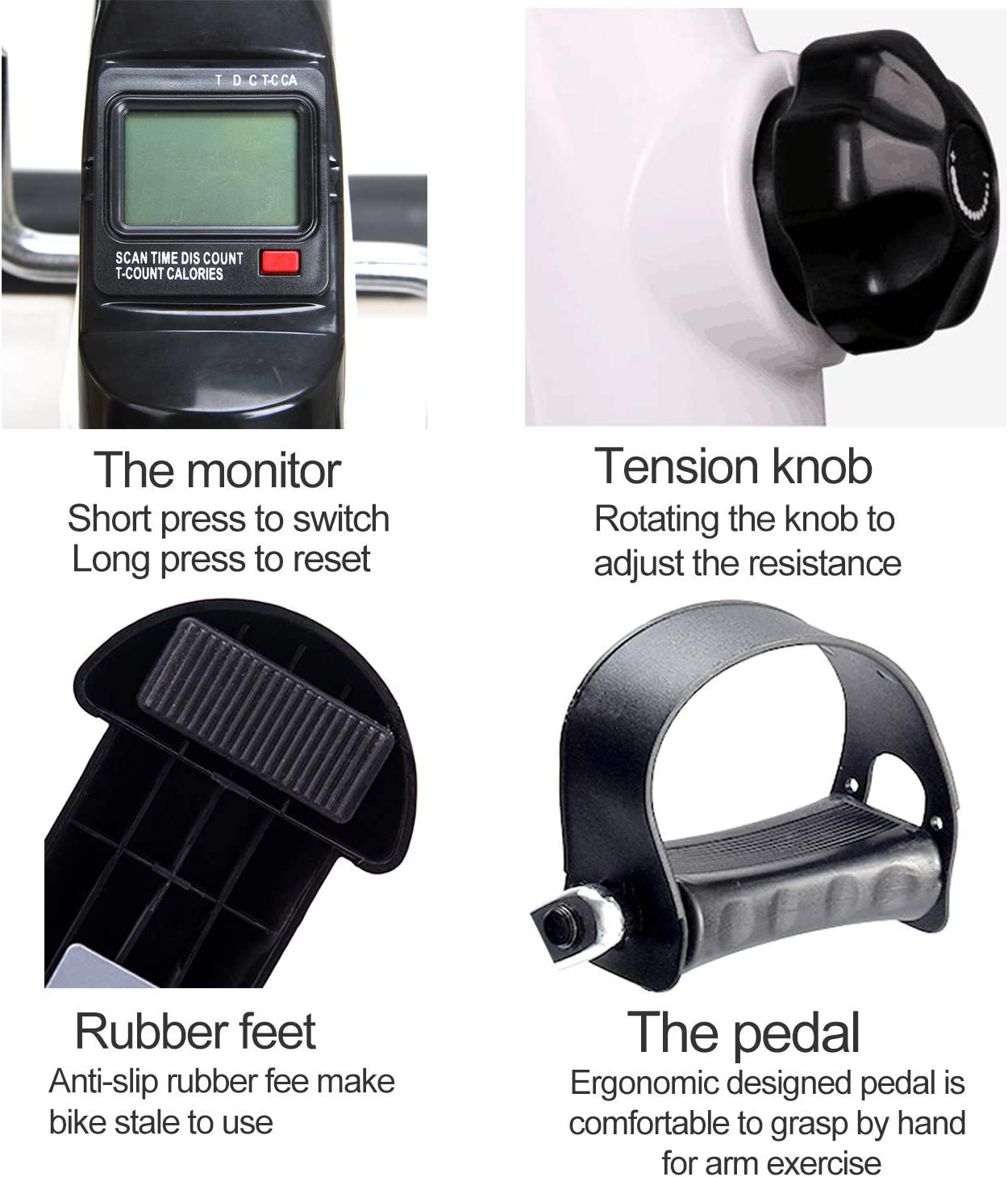 TODO Pedal Exerciser with Digital LCD Monitor