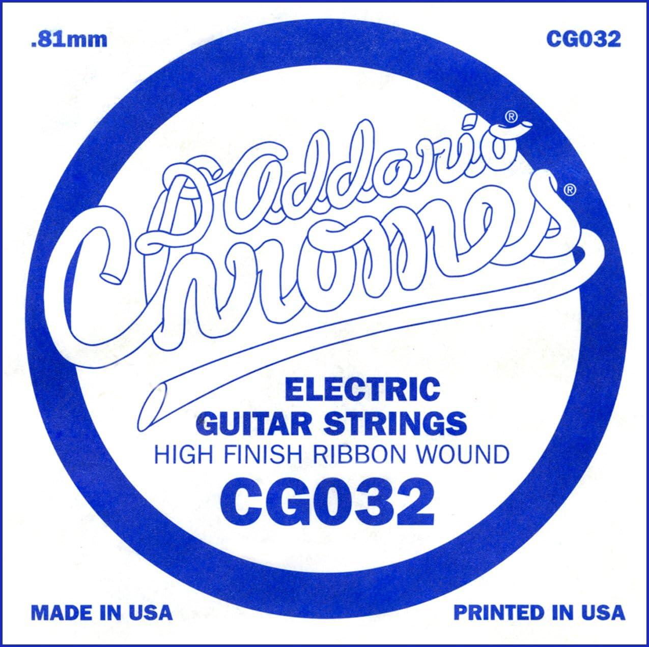 D'Addario CG032, cuerda individual de entorchado plano para guitarra eléctrica.032