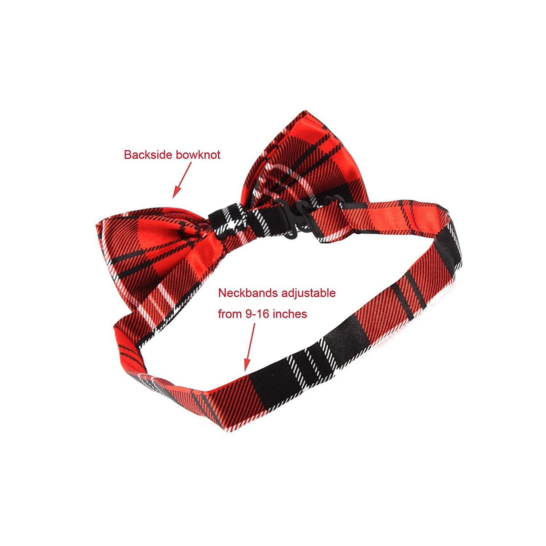 Amazon.com : yagopet 10pcs/Pack Pet Dog Bow tie Neckties Double ...
