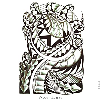 Tatuaje Temporal Maori dientes de tiburón tatuaje efímero Maori ...
