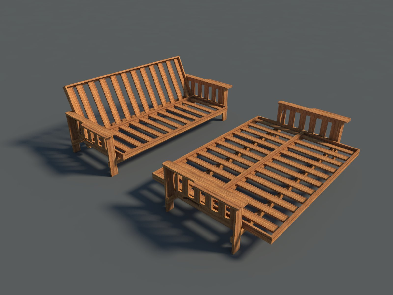 Futon Sofa Bed Plans DIY Lounger Couch Sleeper Furniture Building Woodworking