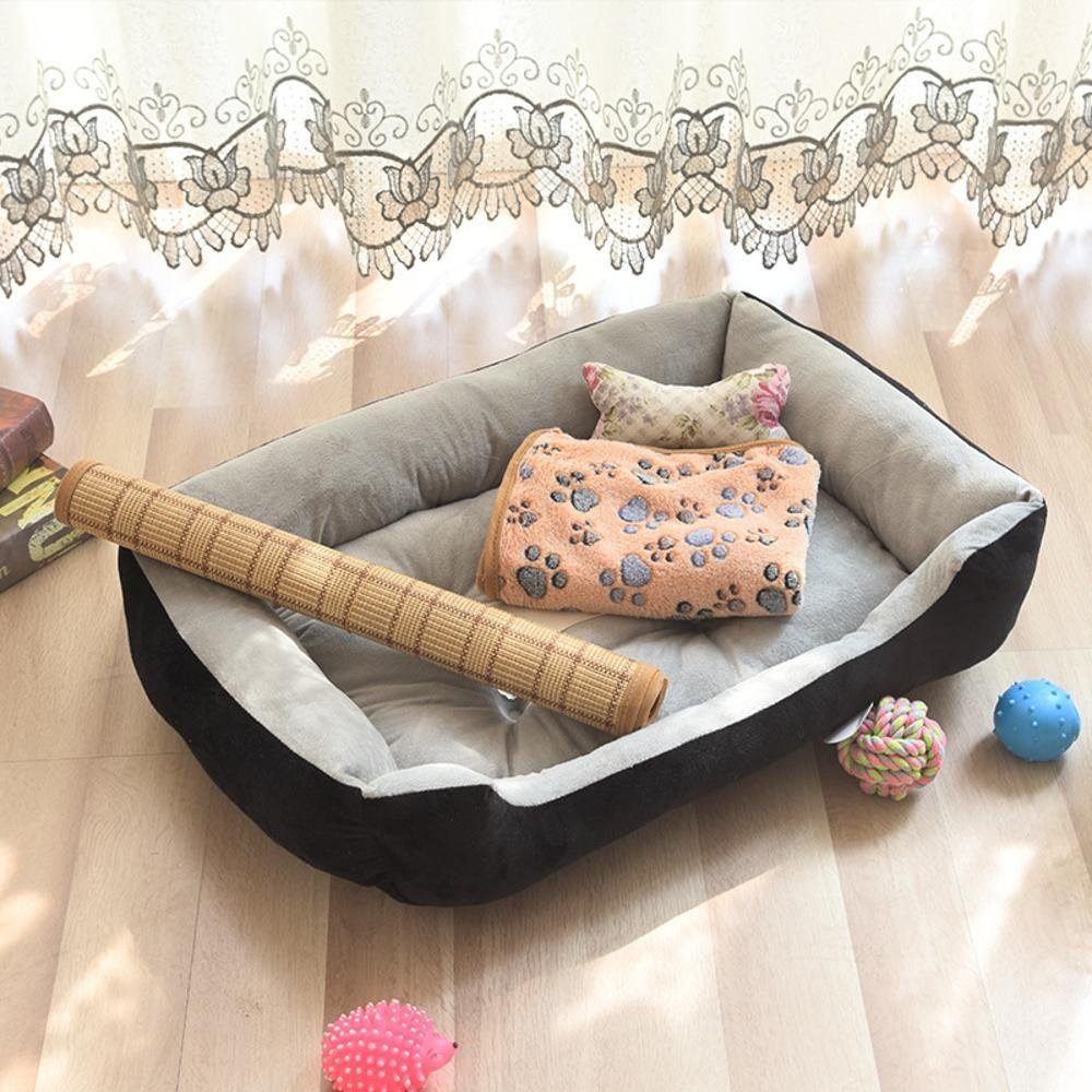 A 50x40cmBiuTeFang Pet Bolster Dog Bed Comfort Four Seasons cushion Kennel indoor Pet Nest