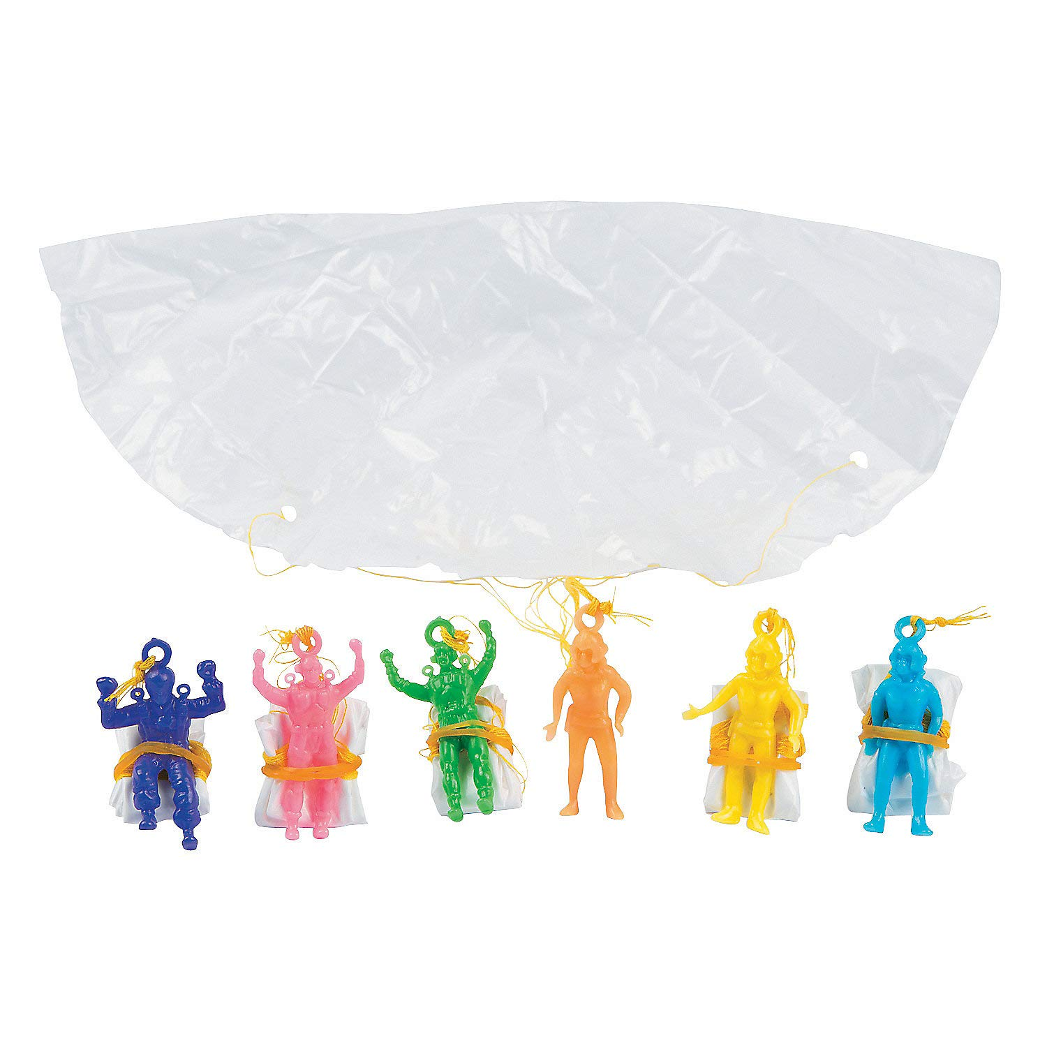 Fun Express - Mini Vinyl Paratroopers (6dz) - Toys - Character Toys - Wind Ups & Paratroopers - 72 Pieces by Fun Express