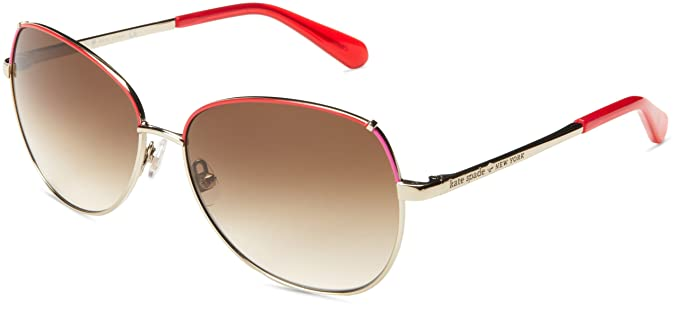 85612258d226 Kate Spade Women's Candida Aviator Sunglasses,Gold Red Pink,58 mm ...
